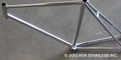 Stainless lugged track bicycle frameset
