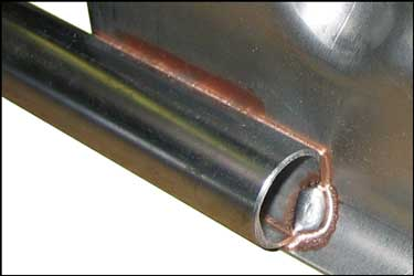 Figure 1: Typical Furnace Brazed Joint  Copper-Brazed Martensitic Stainless Steel